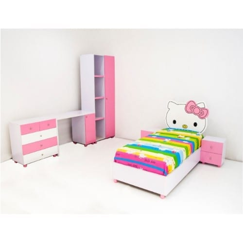 Merveilleux Wiki Kitty Reading Table With Kids Wardrobe, Dresser Drawer Cabinet And  Wiki Kitty Kids Bed With Bedside Drawer Concept